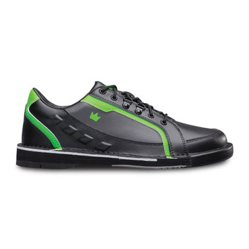 Brunswick Punisher Mens Bowling Shoes Black Neon Green Right Hand