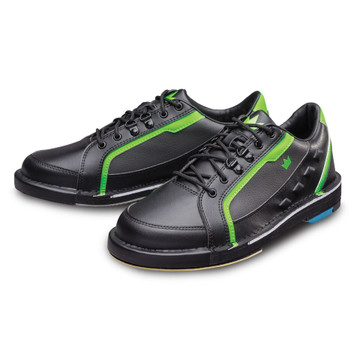 Brunswick Punisher Mens Bowling Shoes Black Neon Green Left Hand