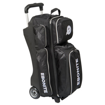 Ebonite Equinox 3 Ball Triple Roller Bowling Bag Black
