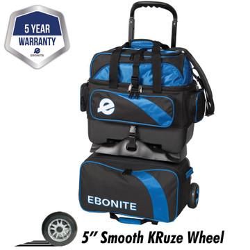 Ebonite Equinox 4 Ball Roller Bowling Bag Black Blue