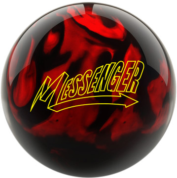 Messenger Bowling Ball Red Black Front View