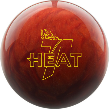 Track Heat Lava Bowling Ball Front View
