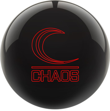 Columbia 300 Chaos Bowling Ball Black Front View
