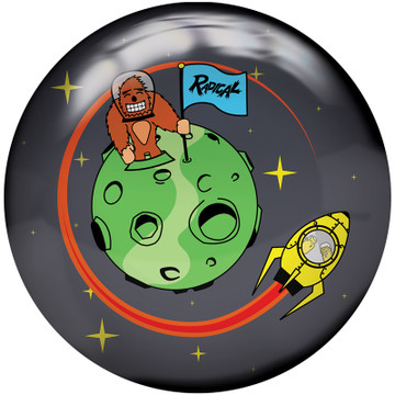 Radical Astro Nuts Bowling Ball Front View