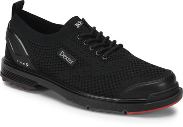Dexter THE 9 ST Mens Bowling Shoes Black Strike Knit Wide Width