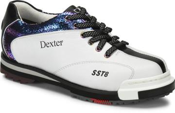 Dexter SST 8 Pro Women's Bowling Shoes White Crackle Black Wide Width