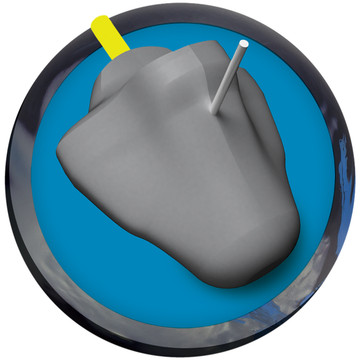 Radical Zing Hybrid Bowling Ball Core View