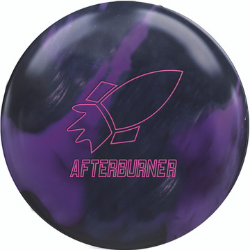 900 Global Afterburner Bowling Ball Purple Black Front View