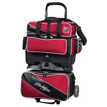 KR Fast 4 Ball Roller Bowling Bag Red Black