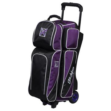 KR Fast 3 Ball Triple Roller Bowling Bag Purple Black