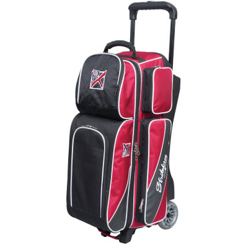 KR Fast 3 Ball Triple Roller Bowling Bag Red Black