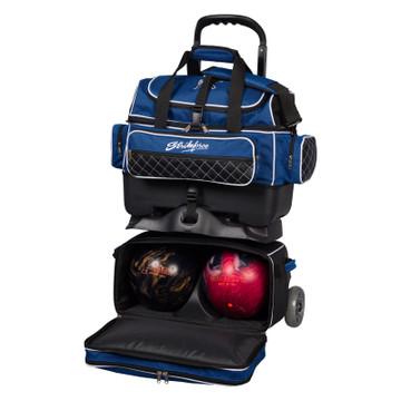KR Royal Flush 4 Ball Roller Bowling Bag Royal Black