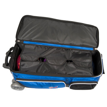 KR Strikeforce Royal Flush 4x4 4 Ball Roller Bag Royal