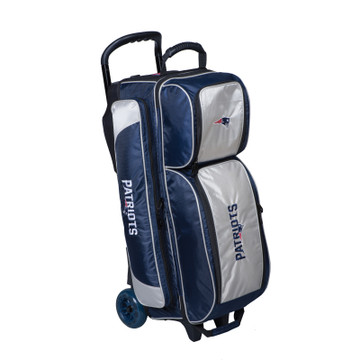 KR NFL 3 Ball Triple Roller Bowling Bag New England Patriots