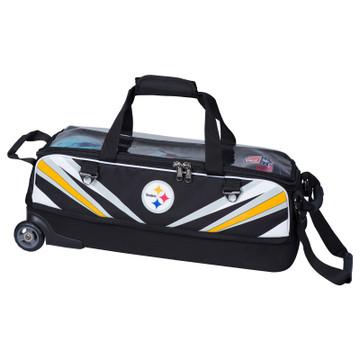 KR NFL 3 Ball Slim Triple Roller Tote Bowling Bag Pittsburgh Steelers