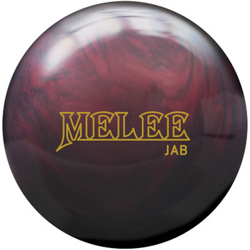 Brunswick Melee Jab Blood Red Bowling Ball Front View