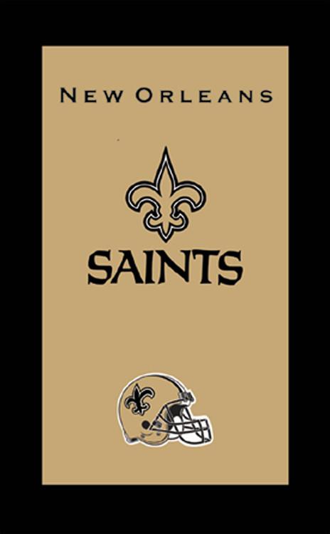 KR NFL Bowling Towel New Orleans Saints