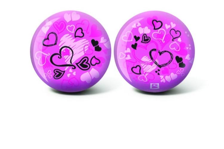 Brunswick Viz a Ball Hearts Glow Bowling Ball