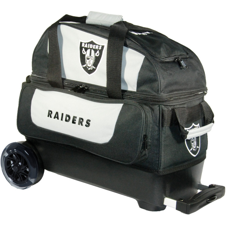 KR NFL 2 Ball Double Rolling Bowling Bag Raiders