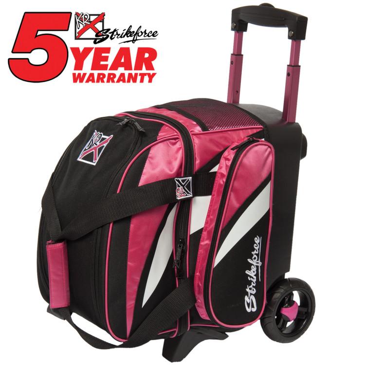 KR Cruiser 1 Ball Single Roller Bowling Bag Pink Black