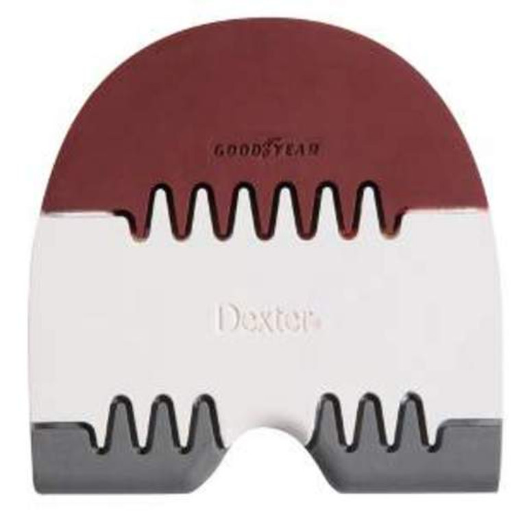 Dexter Replacement Heel #5 Saw Tooth Red White Green Small