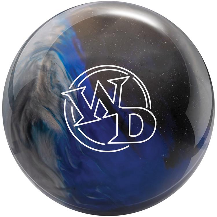 Columbia 300 White Dot Bowling Ball Blue Black Silver Front View