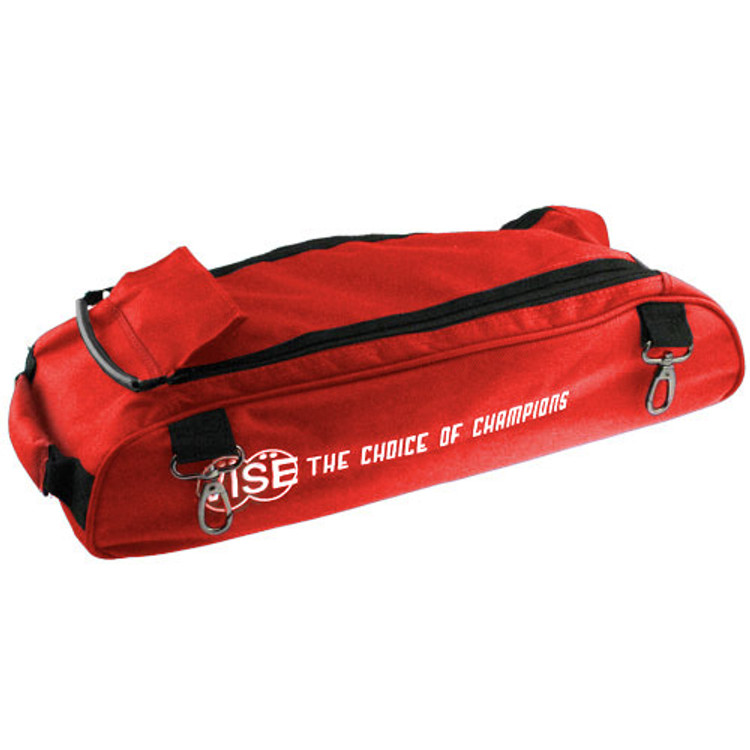 Vise 3 Ball Clear Top Roller Shoe Bag Red