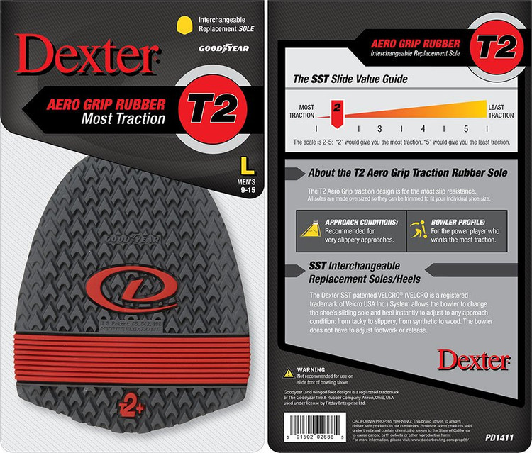 Dexter Replacement Sole SST 8 Traction Sole Red T2+ Hyperflex