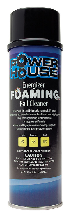 Powerhouse Energizer Foaming Bowling Ball Cleaner 17oz
