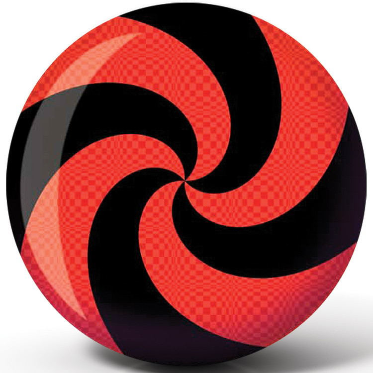 Brunswick Spiral Red/Black Glow Viz a Ball Bowling Ball