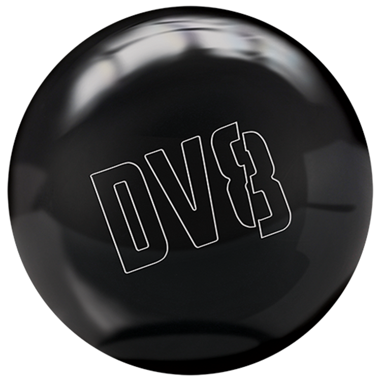DV8 Polyester Bowling Ball Just Black