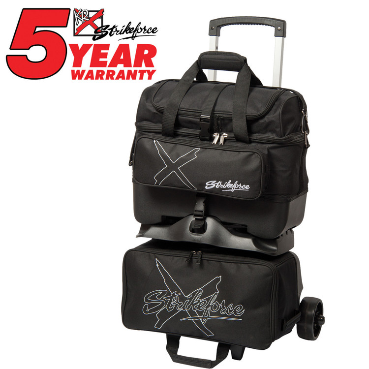 KR Hybrid X 4 Ball Roller Bowling Bag Black