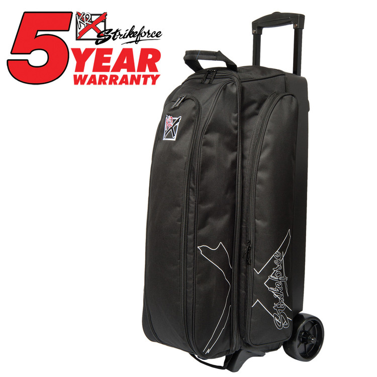 KR Hybrid X 3 Ball Roller Bowling Bag Black