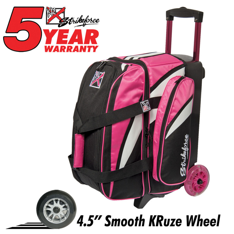 Cruiser Smooth 2 Ball Double Roller Bowling Bag Pink