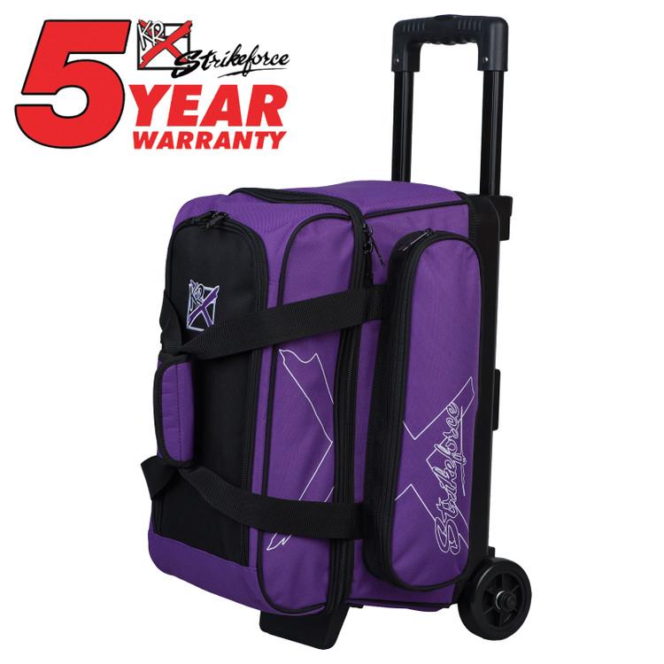 KR Hybrid X 2 Ball Roller Bowling Bag Purple