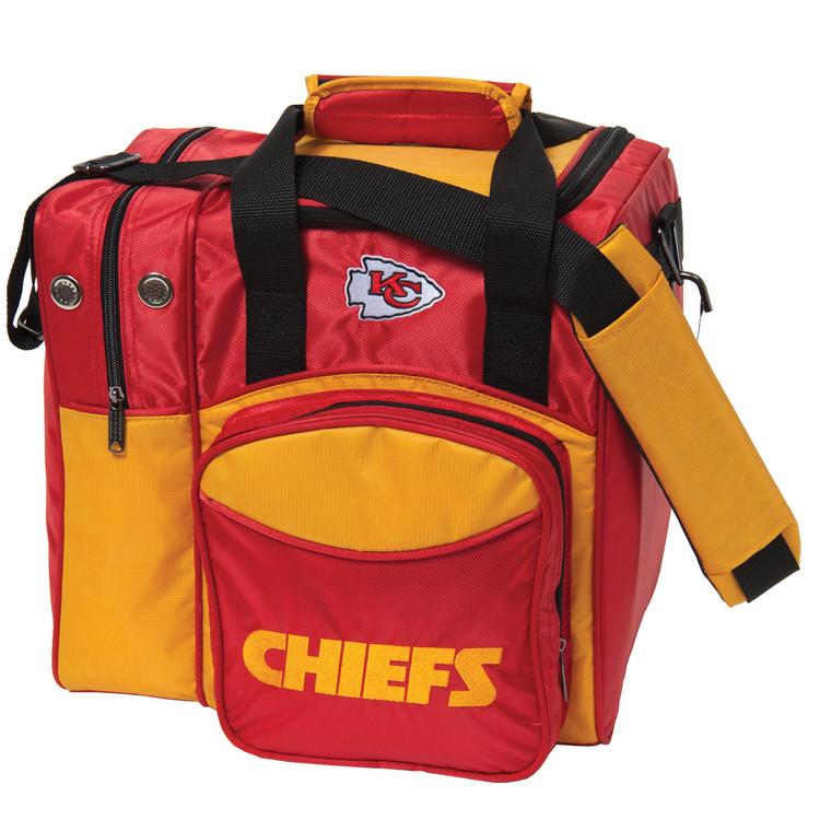 NFL 1 Ball Single Tote Bowling Bag Kansas City Chiefs