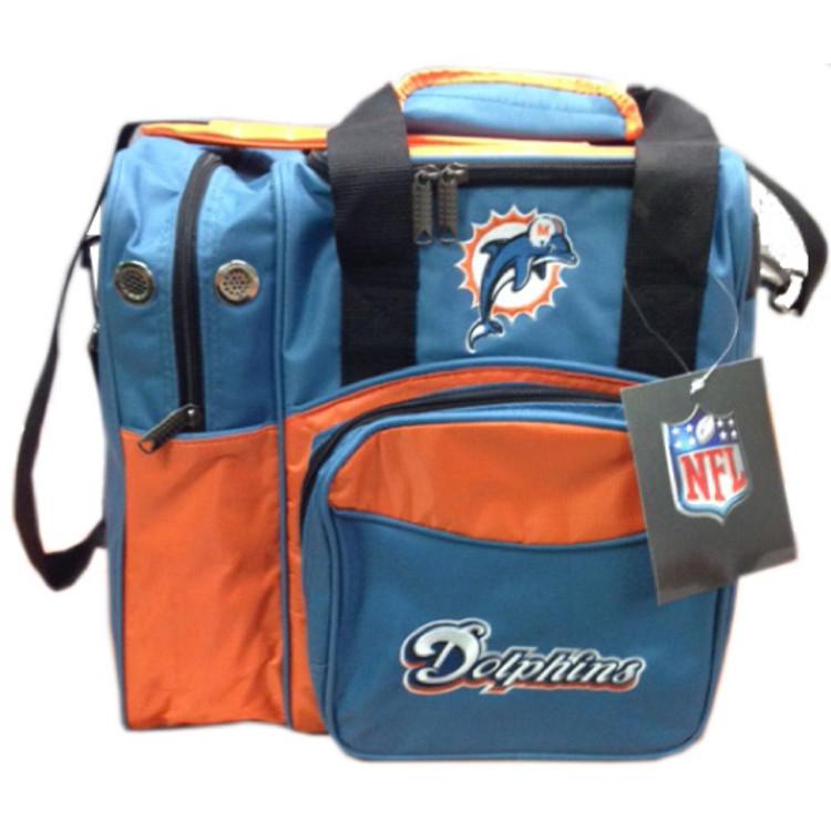 NFL 1 Ball Single Tote Bowling Bag Miami Dolphins