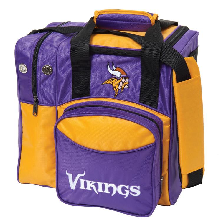 NFL 1 Ball Single Tote Bowling Bag Minnesota Vikings