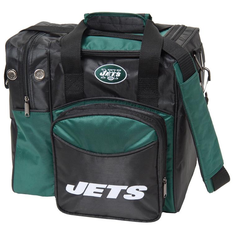 NFL 1 Ball Single Tote Bowling Bag New York Jets