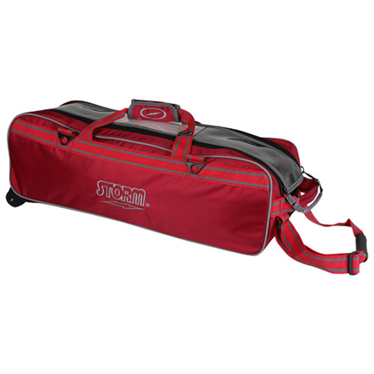 Storm Tournament 3 Ball Triple Roller Bowling Bag Red