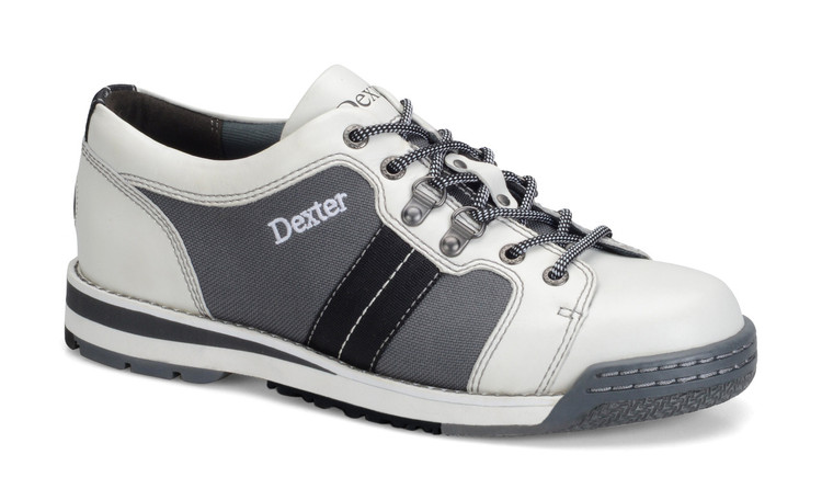 Dexter SST Tank Mens Bowling Shoes White Grey Black Right Hand Wide Width  sideview