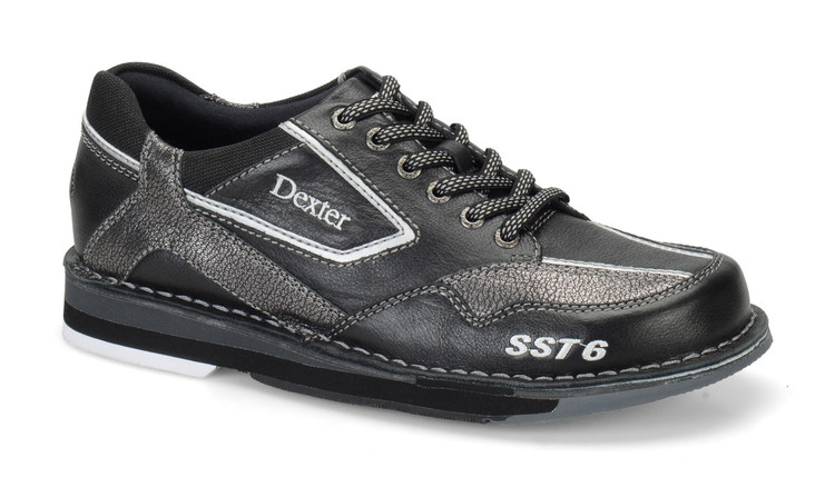 Dexter SST 6 LZ Mens Bowling Shoes Right Hand Black Alloy side view