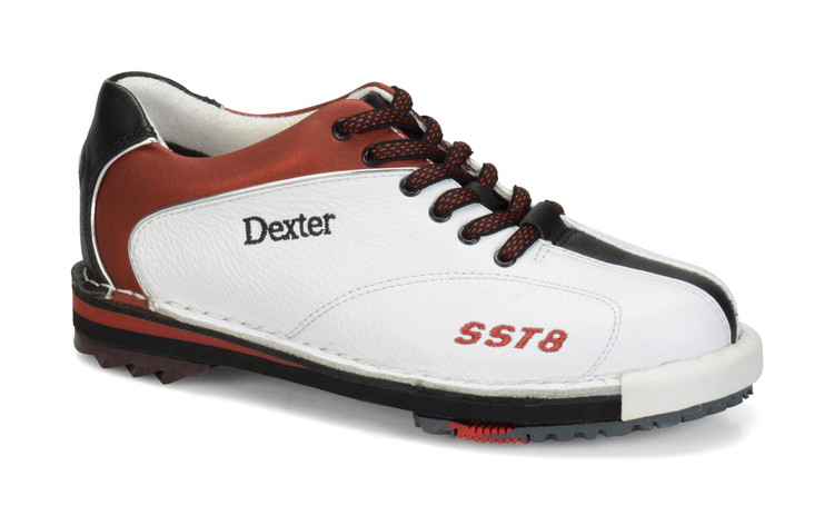 Dexter SST 8 LE Women's Bowling Shoes White Red Black side view