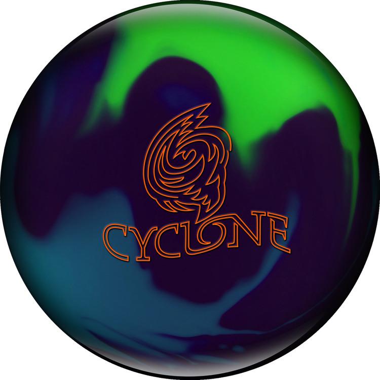 Ebonite Cyclone Bowling Ball Purple Teal Lime