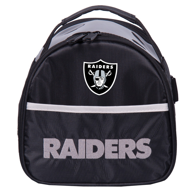 NFL Add On 1 Ball Single Tote Bowling Bag Raiders