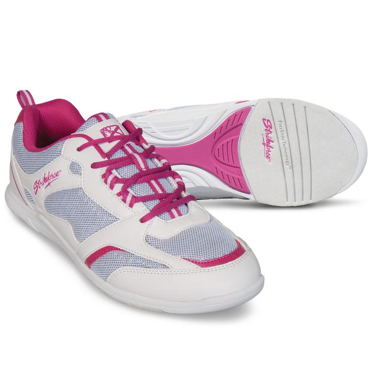 KR Strikeforce Spirit Lite Women's Bowling Shoes White Fuchsia