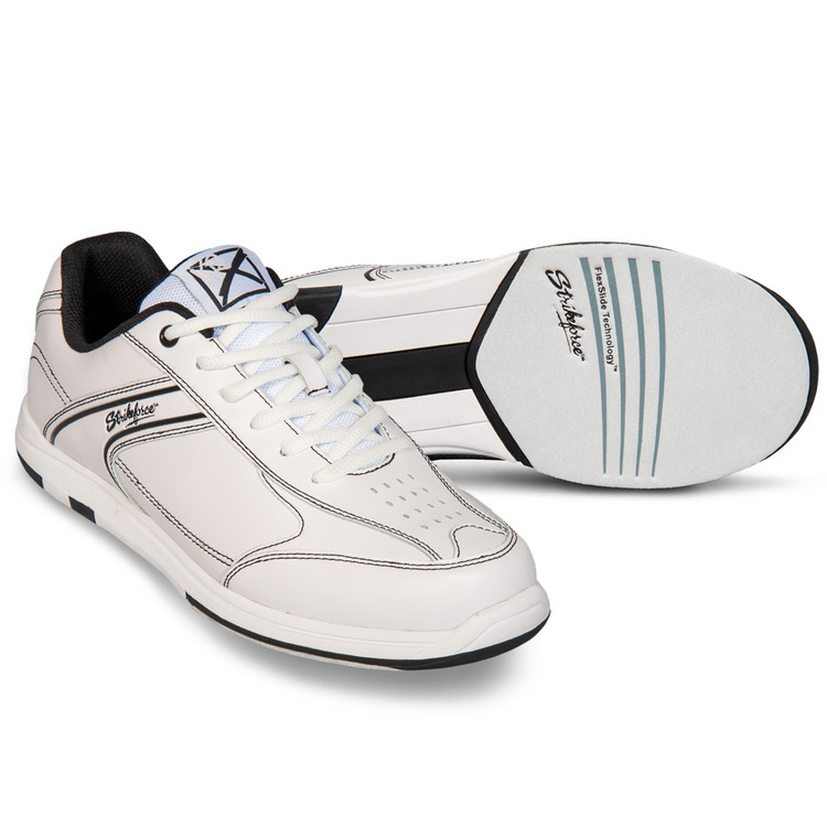 KR Strikeforce Flyer Mens Bowling Shoes White Black 3e06c771d