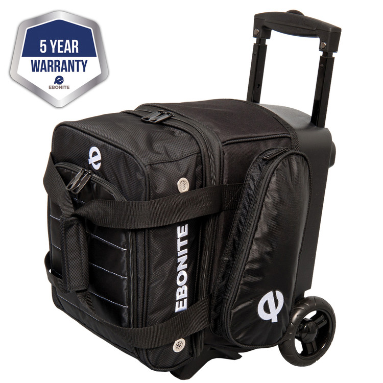 Ebonite Eclipse Single Roller Bowling Bag Black