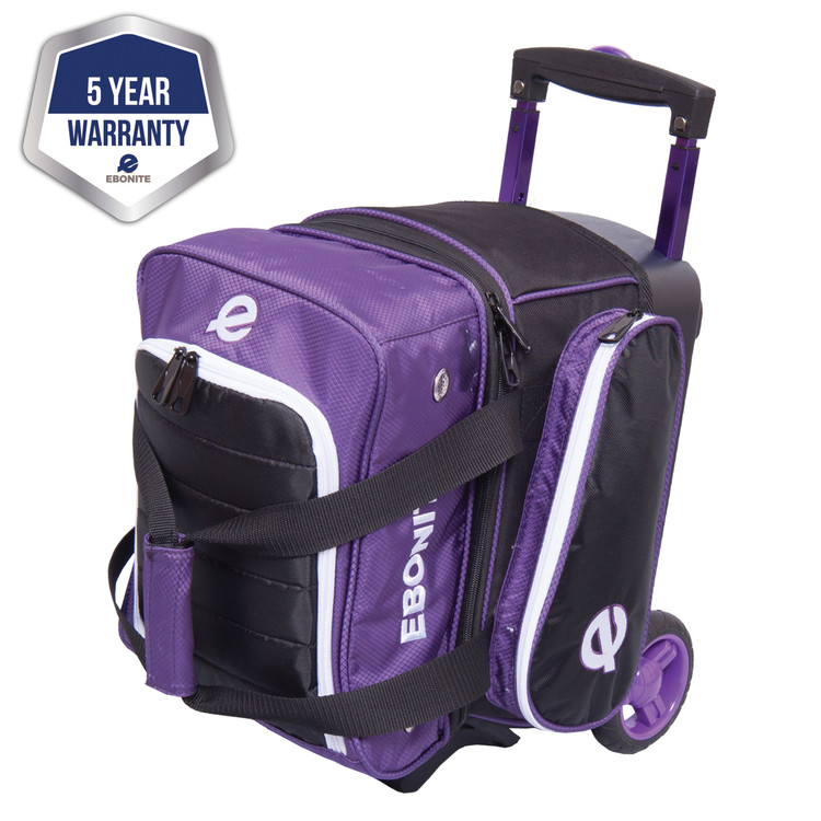 Ebonite Eclipse Single Roller Bowling Bag Purple