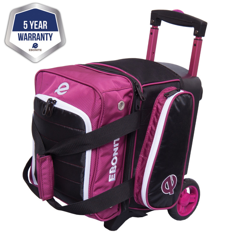 Ebonite Eclipse Single Roller Bowling Bag Plum